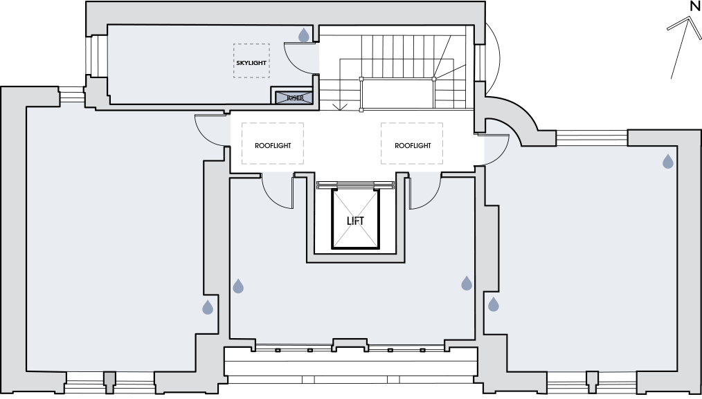 55 New Cavendish Street second floor plan