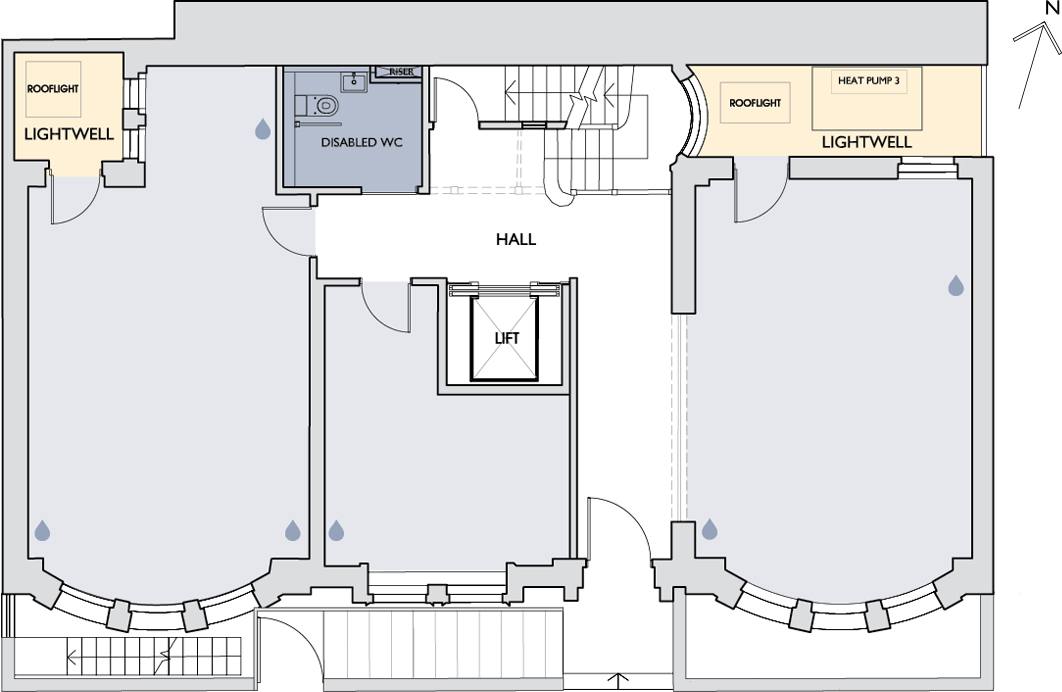 55 New Cavendish Street ground floor plan