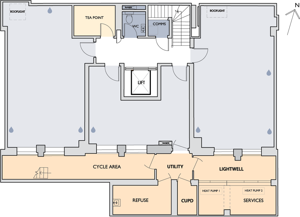 55 New Cavendish Street lower ground floor plan